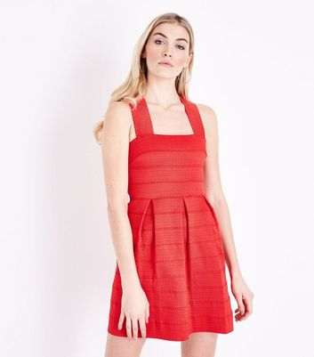 Red Bandage Skater Dress