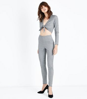 Grey Gingham Leggings