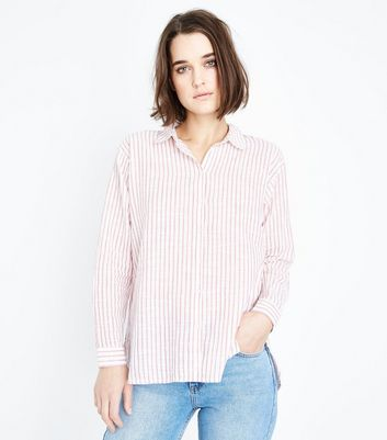 Red Stripe Drop Sleeve Shirt