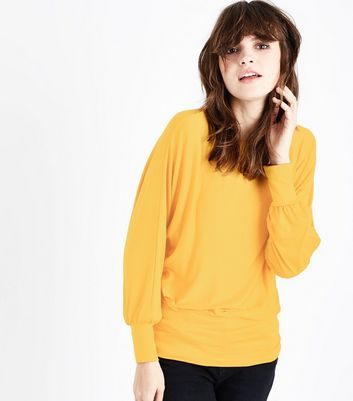 QED Yellow Oversized Hem Top