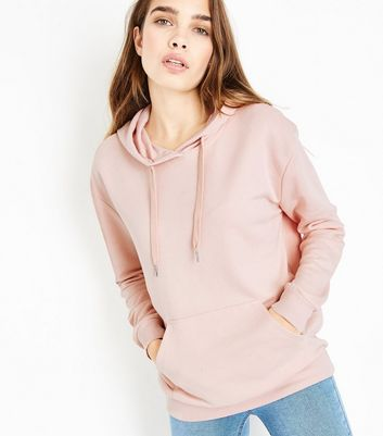 Shell Pink Pocket Front Hoodie
