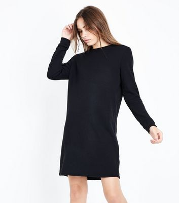 Black Longline Sweater Dress