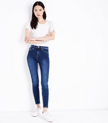 Blue Rinse Wash High Rise Skinny Dahlia Jeans