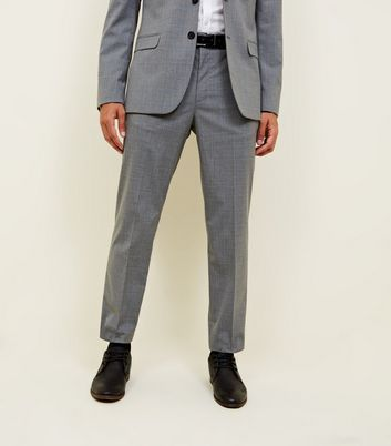 Grey Prince Of Wales Check Slim Fit Trousers