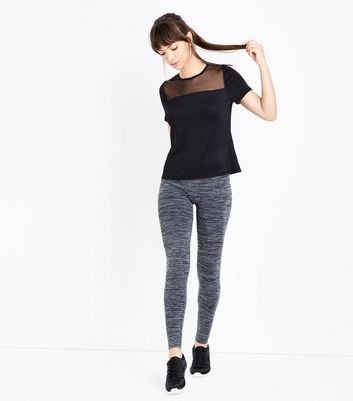 Dark Grey Marl Seamless Sports Leggings