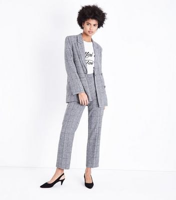 Parisian Grey Check Suit Trousers