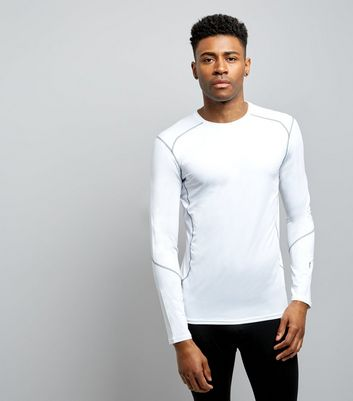 White Stretch Long Sleeve T-Shirt