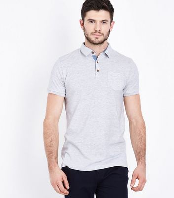 Cream Pocket Front Polo T-Shirt