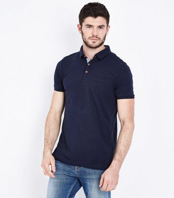 Navy Pocket Front Polo T-Shirt