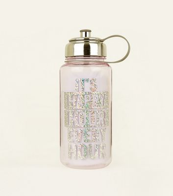 Lilac Happy Hour Slogan Water Bottle