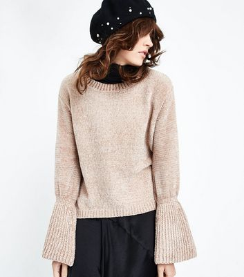 QED Cream Chenille Bell Sleeve Jumper