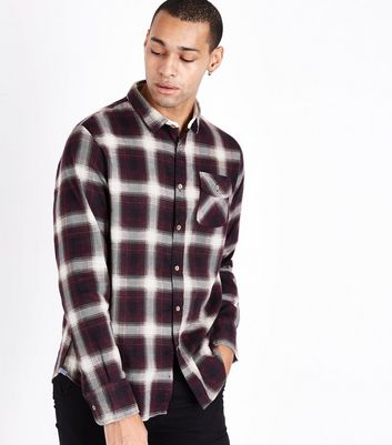 Red Ombre Check Shirt