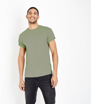 Light Green Rolled Sleeve T-Shirt