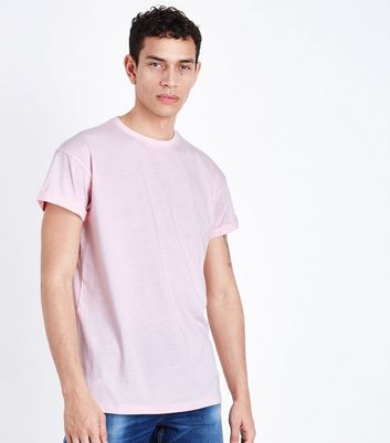 Pink Rolled Sleeve T-Shirt