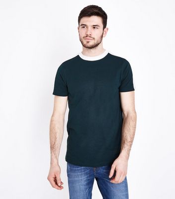 Dark Green Side Stripe T-Shirt