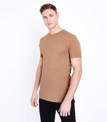 Camel Short Sleeve Muscle Fit T-Shirt