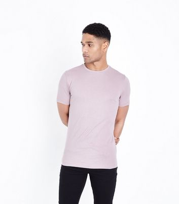 Light Purple Short Sleeve Muscle Fit T-Shirt