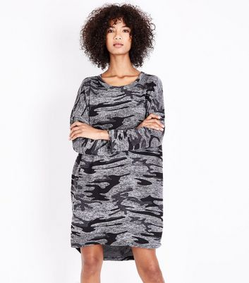QED Grey Camo Tunic Dress