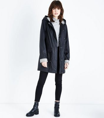 Tall Black Stripe Lined Anorak
