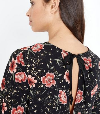9f15bb02fb0e New look petite black floral long sleeve playsuit jpg 2000x2250 Petite long  sleeve jumpsuits