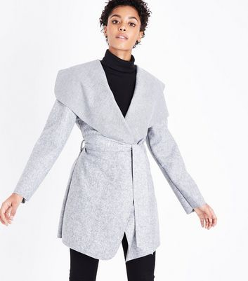 Cameo Rose Grey Tie Waist Jacket