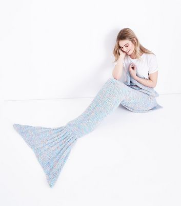 Multi-Coloured Boucle Mermaid Blanket