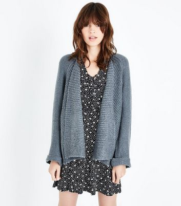 QED Grey Waterfall Cardigan