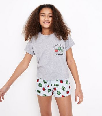 Teens Blue Lettuce Celebrate Print Pyjama Set