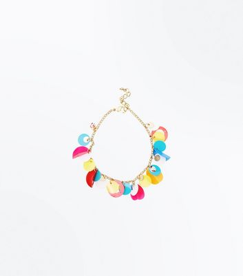Multi Coloured Sequin Anklet