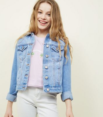 Teens Bright Blue Denim Jacket by New Look