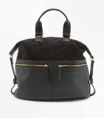 Black Slouchy Bowler Bag