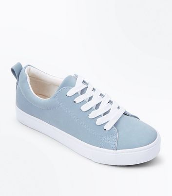Teens Grey Lace Up Trainers
