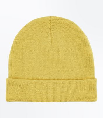 Yellow Knitted Beanie
