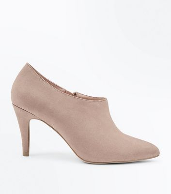 Wide Fit Light Brown Suedette Pointed Shoe Boots