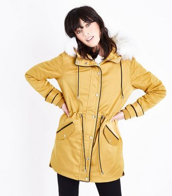 Mustard Yellow Parka Jacket