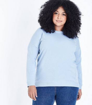 Curves Bright Blue Slouchy Sweatshirt