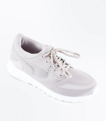 Lilac Panelled Chunky Sole Trainers