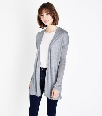Grey Lightweight Longline Cardigan