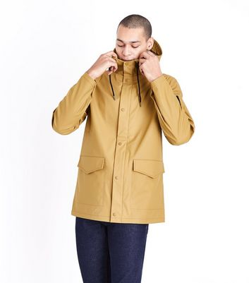 Camel Hooded Rain Coat