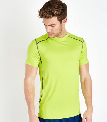 Yellow Stretch Sports T-Shirt