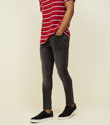 Black Washed Skinny Stretch Jeans by New Look