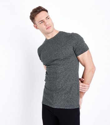 Light Grey Marl Muscle Fit T-Shirt