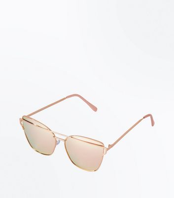 Rose Gold Ombre Lens Sunglasses