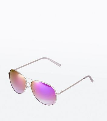 Purple Mirror Aviator Style Sunglasses