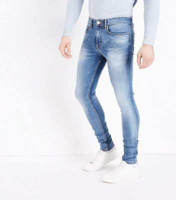 Bright Blue Super Stretch Skinny Jeans