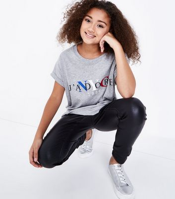 Teens Grey J'Adore NYC Oversized T-Shirt