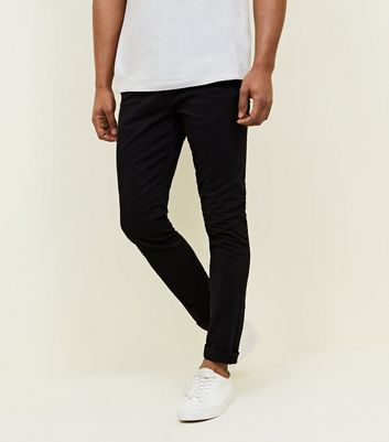 Black Skinny Stretch Chinos