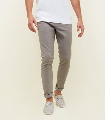 Dark Grey Skinny Stretch Chinos