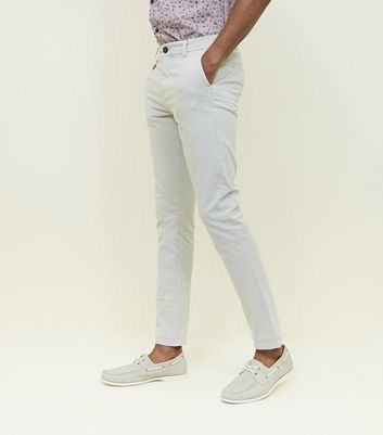 Off White Skinny Stretch Chinos