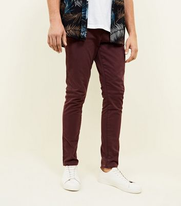 Rust  Skinny Stretch Chinos